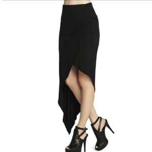 BCBGeneration Black Asymmetrical Skirt